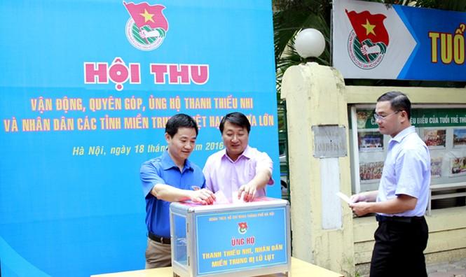 Tuổi trẻ Thủ đô chung tay cứu trợ miền Trung - ảnh 3