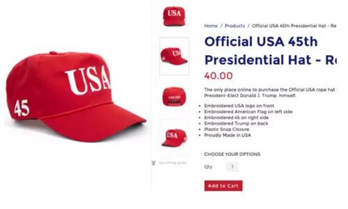 Ông Trump tung ra mẫu mũ mới giá 40 USD - ảnh 1