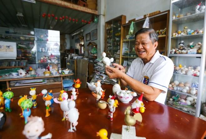 Bộ sưu tập vỏ trứng của thầy giáo về hưu ở Sài Gòn - ảnh 1