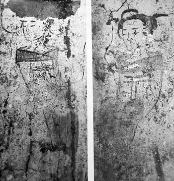 Bích họa người hầu gái trong mộ cổ 1.400 năm ở Trung Quốc - ảnh 1