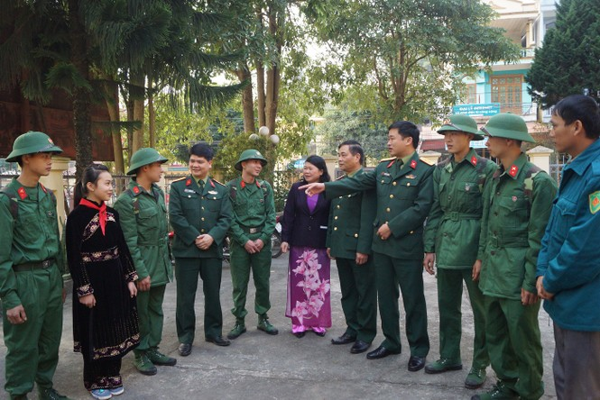 3.500 thanh niên Hà Nội lên đường nhập ngũ - ảnh 6