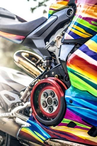 Ducati 899 Panigale 'độ' cầu vồng 7 sắc tại Việt Nam - ảnh 6