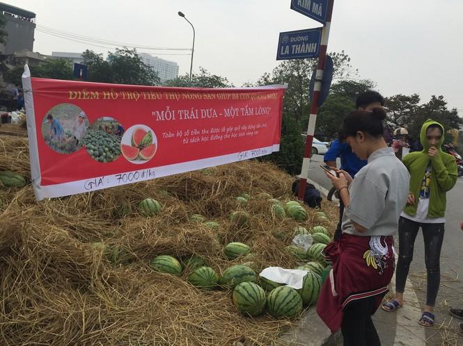 Bán hết 20 tấn dưa ủng hộ người dân Quảng Ngãi trong sáng 3/4 - ảnh 1