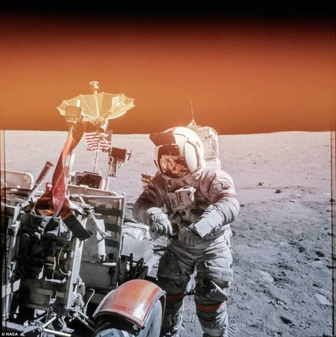 Ảnh hiếm về chuyến bay lên Mặt Trăng qua ống kính phi hành gia - ảnh 7