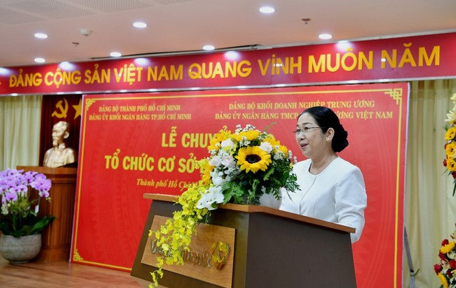 Đảng bộ Vietcombank tiếp nhận 17 tổ chức Đảng trên địa bàn TP.HCM - ảnh 1