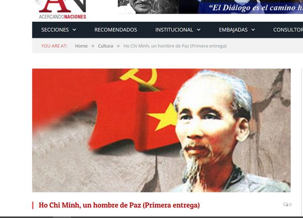 Truyền thông Argentina ca ngợi Chủ tịch Hồ Chí Minh - ảnh 1