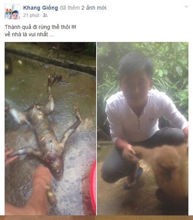 Nam sinh khoe chiến tích giết vượn quý hiếm trên facebook: Quá nông cạn - ảnh 1