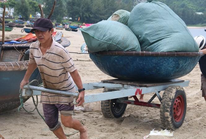 Ngư dân Đà Nẵng hối hả đưa tàu thuyền vào nơi trú bão - ảnh 6