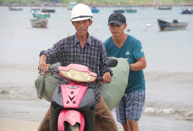 Ngư dân Đà Nẵng hối hả đưa tàu thuyền vào nơi trú bão - ảnh 7