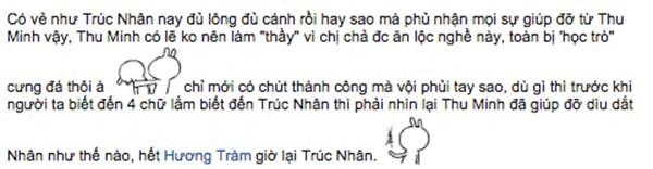 Sốc Trúc Nhân 'vô ơn' với Thu Minh? - ảnh 2