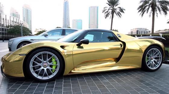 Siêu phẩm Porsche 918 Spyder Hybrid mạ chrome vàng cực độc - ảnh 2