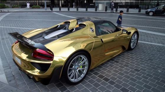 Siêu phẩm Porsche 918 Spyder Hybrid mạ chrome vàng cực độc - ảnh 3