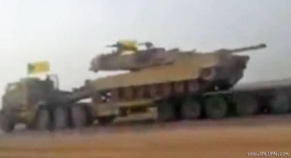 Xe tăng chiến đấu chủ lực M1A1 của Mỹ bị phiến quân Hezbollah thu giữ. Ảnh chụp màn hình.