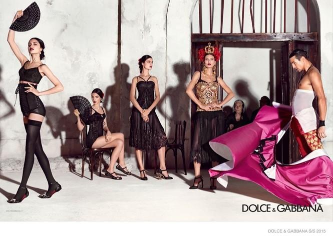 'Hơi thở' Tây Ban Nha tràn ngập BST Dolce & Gabbana xuân hè 2015 - ảnh 1