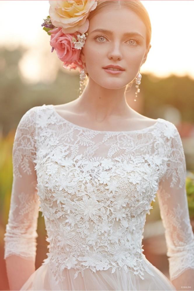 Váy cưới ren 'siêu' lãng mạn cho cô dâu  - ảnh 12
