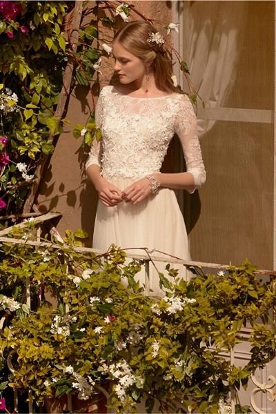 Váy cưới ren 'siêu' lãng mạn cho cô dâu  - ảnh 14