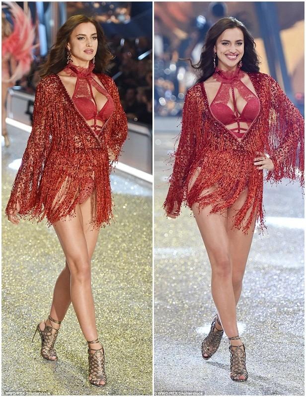 người đẹp,vẻ đẹp,trình diễn,Victoria's Secret,Irina Shayk,catwalk,chân dài, nội y , Gigi Hadid, Kendall Jenner - ảnh 2