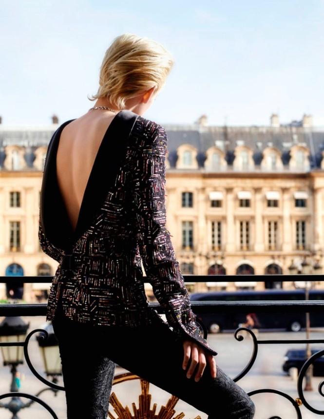 thời trang,người đẹp,bộ sưu tập,phong cách,tạp chí,Vogue,quảng cáo,cá tính, ông hoàng tóc bạc, Karl Lagerfeld, Chạng vạng, Twilight, Kristen Stewart, Chanel - ảnh 4