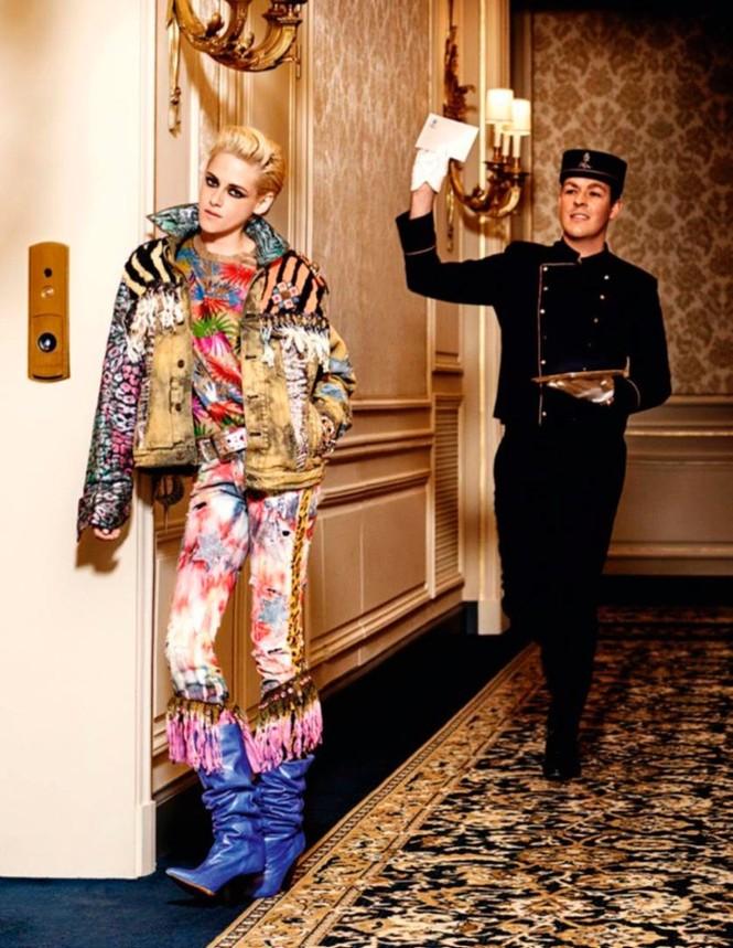 thời trang,người đẹp,bộ sưu tập,phong cách,tạp chí,Vogue,quảng cáo,cá tính, ông hoàng tóc bạc, Karl Lagerfeld, Chạng vạng, Twilight, Kristen Stewart, Chanel - ảnh 2