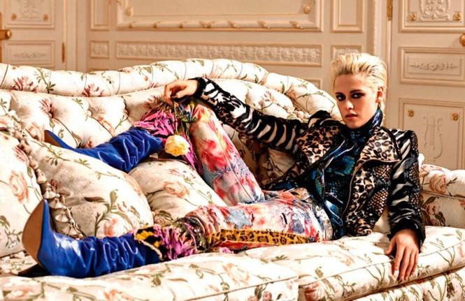 thời trang,người đẹp,bộ sưu tập,phong cách,tạp chí,Vogue,quảng cáo,cá tính, ông hoàng tóc bạc, Karl Lagerfeld, Chạng vạng, Twilight, Kristen Stewart, Chanel - ảnh 1