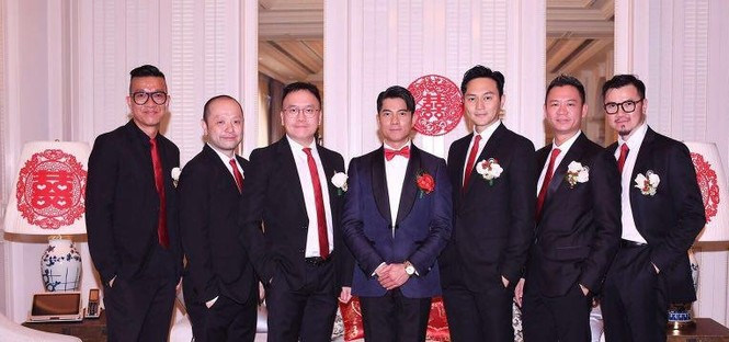Chú rể Quách Phú Thành bảnh bao trong lễ cưới - ảnh 6