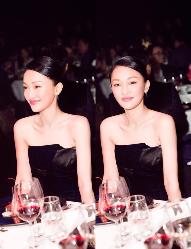 Châu Tấn sang trọng nổi bật với đầm đen gợi cảm - ảnh 1
