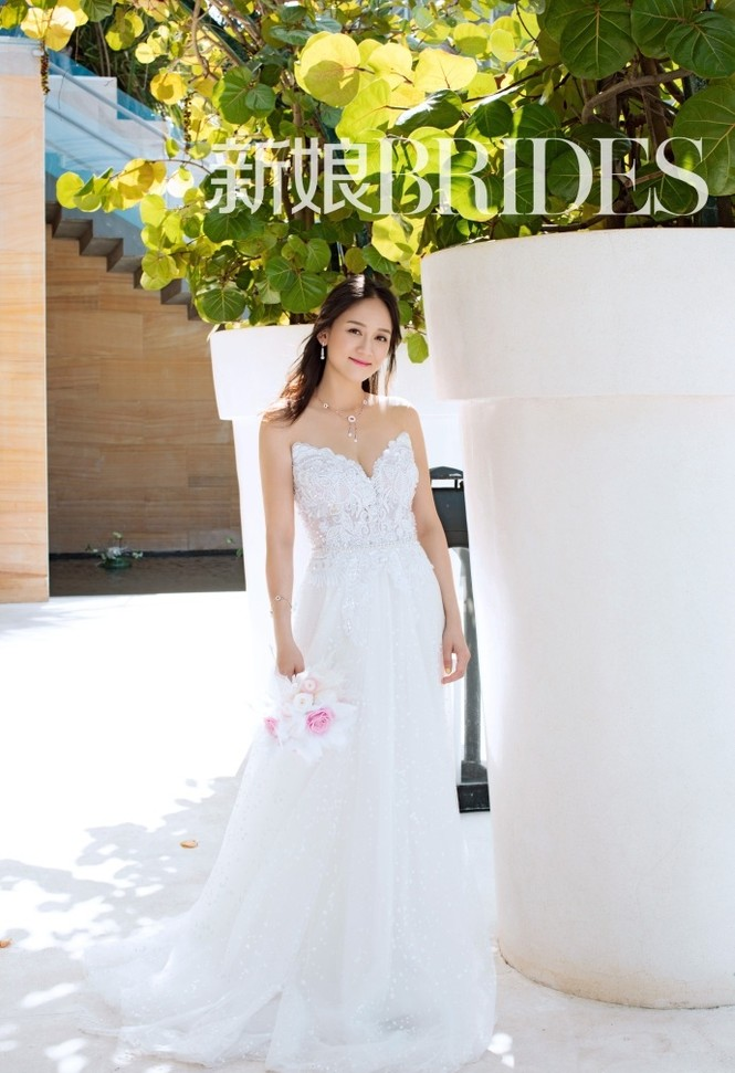 'Đông Phương Bất Bại' Trần Kiều Ân siêu quyến rũ khi làm cô dâu - ảnh 5