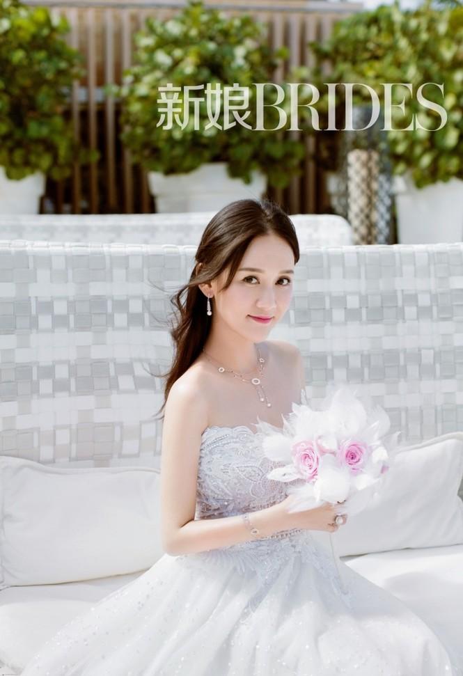 'Đông Phương Bất Bại' Trần Kiều Ân siêu quyến rũ khi làm cô dâu - ảnh 3