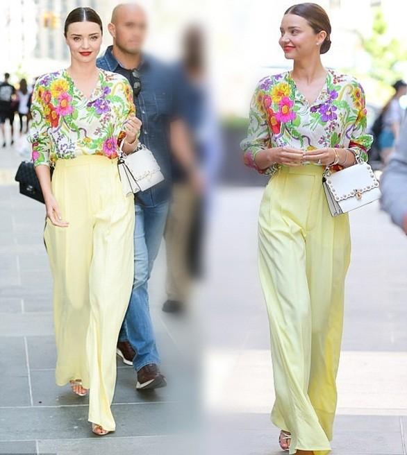 Miranda Kerr đẹp như đóa hoa rạng ngời giữa phố - ảnh 4