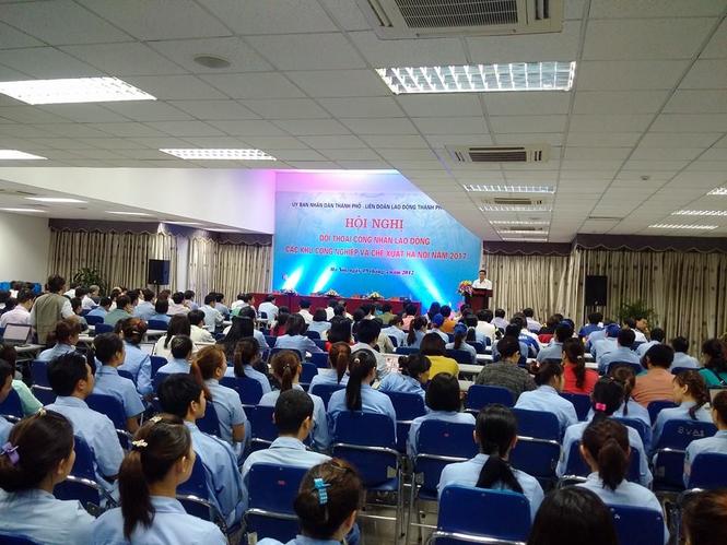 KCN, KCX, chủ tịch chung, đối thoại công nhân, KCN Thăng Long, KCN Nội Bài - ảnh 2