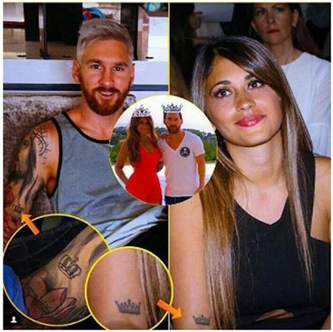 Messi và bạn gái rủ nhau xăm hình khắc ghi tình yêu - ảnh 1