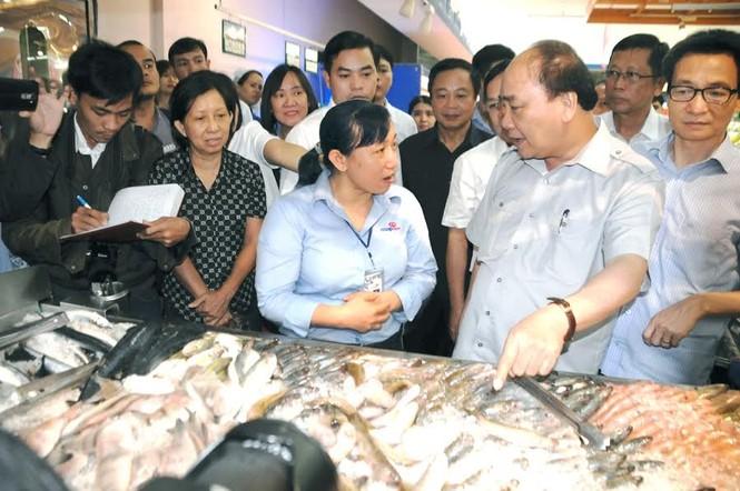 Thủ tướng Nguyễn Xuân Phúc bất ngờ thị sát siêu thị - ảnh 1