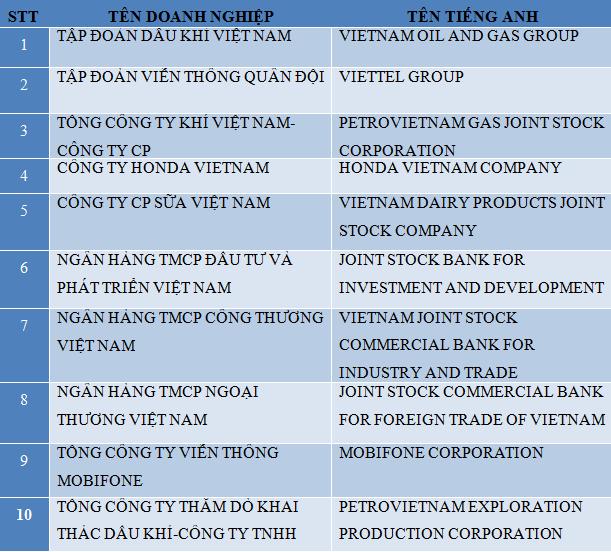 Lộ diện 10 doanh nghiệp nộp thuế lớn nhất Việt Nam  - ảnh 1