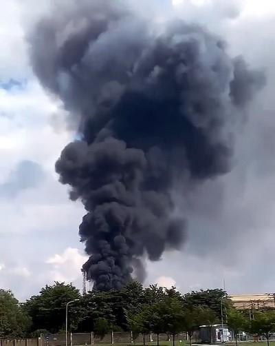 Nổ lớn, khói đen bốc nghi ngút trong công ty Vedan - ảnh 1