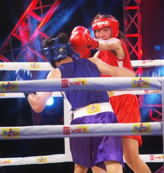 Màn so găng nảy lửa của các hotgirl làng Boxing Việt - ảnh 3