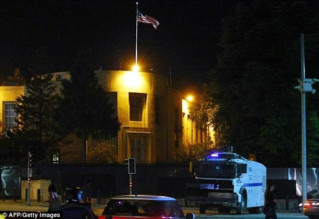 Nổ súng tại Đại sứ quán Mỹ ở Thổ Nhĩ Kỳ - ảnh 1