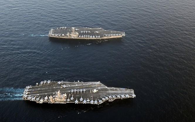 Máy bay ném bom B-1B Mỹ tập trận trên Bán đảo Triều Tiên - ảnh 2