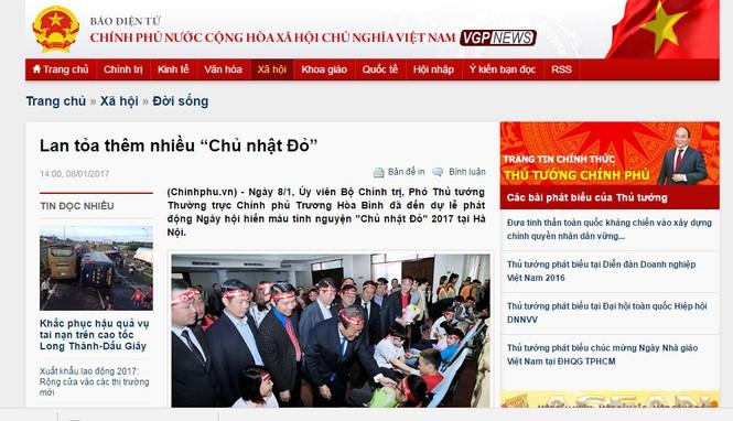 Chủ Nhật Đỏ 2017, Báo Tiền Phong - ảnh 2