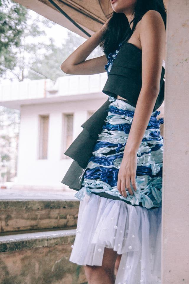 Ngắm bộ sưu tập thời trang làm từ 'rác' của giới trẻ Hà thành - ảnh 8