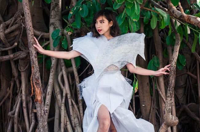 Ngắm bộ sưu tập thời trang làm từ 'rác' của giới trẻ Hà thành - ảnh 3